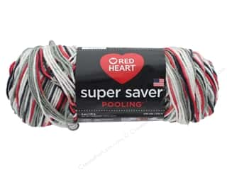 Coats & Clark Red Heart Super Saver Yarn 4 ply 5 oz Pooling Haute