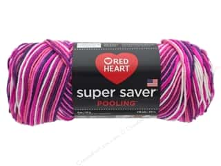 yarn & needlework: Coats & Clark Red Heart Super Saver Yarn 4 ply 5 oz Pooling Berry