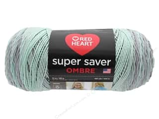 yarn & needlework: Coats & Clark Red Heart Super Saver Jumbo Yarn 10 oz Ombre Fresh Mint