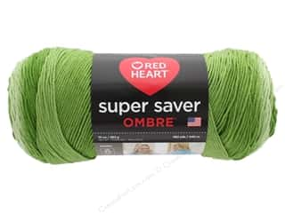 Coats & Clark Red Heart Super Saver Jumbo Yarn 10 oz Ombre Green Apple