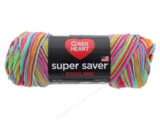 yarn & needlework: Coats & Clark Red Heart Super Saver Yarn 4 ply 5 oz Pooling Papaya