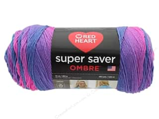 Red Heart Super Saver Ombre Yarn - #4975 Sweet Treat 482 yd.