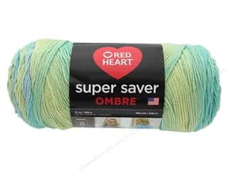 yarn & needlework: Coats & Clark Red Heart Super Saver Jumbo Yarn 10 oz Ombre Seaside