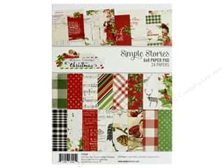 christmas paper: Simple Stories Collection Vintage Christmas Paper Pad 6 in. x 8 in.