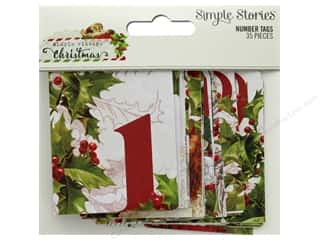 Clearance: Simple Stories Collection Vintage Christmas Number Tags