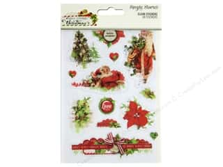 Clearance: Simple Stories Collection Vintage Christmas Stickers Clear