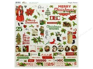 Clearance: Simple Stories Collection Vintage Christmas Sticker 12 in. x 12 in. Combo (12 pieces)