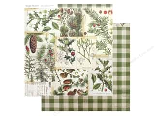 scrapbooking & paper crafts: Simple Stories Collection Vintage Christmas Paper 12 in. x 12 in. O Christmas Tree (25 pieces)