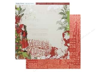 christmas paper: Simple Stories Collection Vintage Christmas Paper 12 in. x 12 in. Ho Ho Ho (25 pieces)