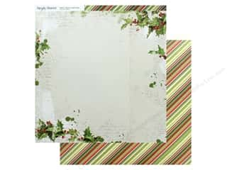 christmas paper: Simple Stories Collection Vintage Christmas Paper 12 in. x 12 in. Be Merry (25 pieces)