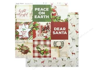 scrapbooking & paper crafts: Simple Stories Collection Vintage Christmas Paper 12 in. x 12 in. Elements 4 in. x 4 in. (25 pieces)