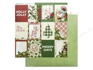 Clearance: Simple Stories Collection Vintage Christmas Paper 12 in. x 12 in. Elements 3 in. x 4 in. (25 pieces)