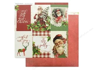 scrapbooking & paper crafts: Simple Stories Collection Vintage Christmas Paper 12 in. x 12 in. Elements Vertical 4 in. x 6 in. (25 pieces)
