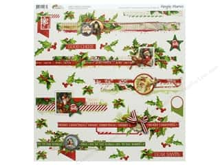 Clearance: Simple Stories Collection Vintage Christmas Sticker 12 in. x 12 in. Border (12 pieces)