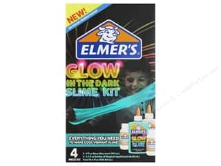 glues, adhesives & tapes: Elmer's Slime Kit Glow Natural & Blue