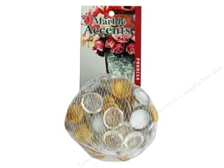floral & garden: Panacea Decorative Accents Glass Gems Silver/Gold 12oz