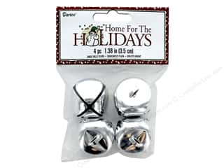 craft & hobbies: Darice Bells Jingle 35 mm Silver 4 pc