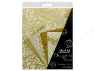 Black Ink Decorative Papers Golden Glow 10 pc