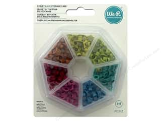 scrapbooking & paper crafts: We R Memory Keepers Eyelets and Storage Case 140 pc. Bright