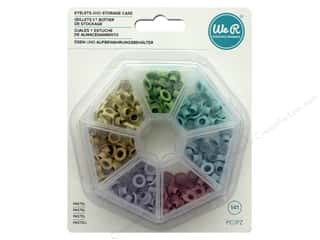 We R Memory Keepers Eyelets and Storage Case 140 pc. Pastel