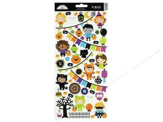 Clearance: Doodlebug Collection Pumpkin Party Sticker Icons (12 sets)