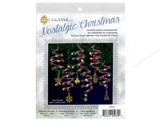 craft & hobbies: Solid Oak Kit Beaded Ornament Charmers Red/Green/Gold