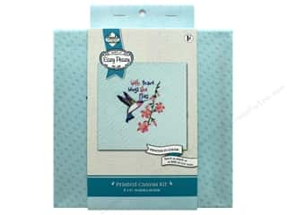"Needle Creations Kit Embroidery Canvas 8""x 8"" Hummingbird"