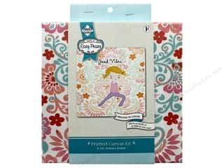 "Needle Creations Kit Embroidery Canvas 8""x 8"" Good Vibes"