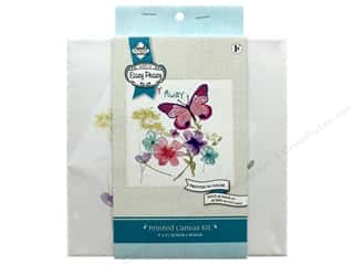 "Needle Creations Kit Embroidery Canvas 8""x 8"" Butterfly"