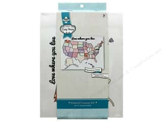 "yarn: Needle Creations Kit Embroidery Canvas 8""x 10"" USA"