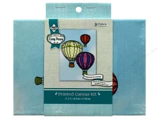 "yarn: Needle Creations Kit Embroidery Canvas 5""x 7"" Hot Air Balloon"