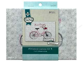 "Needle Creations Kit Embroidery Canvas 5""x 7"" Bicycle Live Simply"