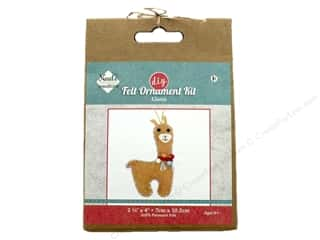 yarn & needlework: Needle Creations Kit Felt Ornament Llama