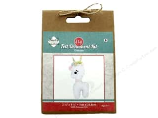 yarn: Needle Creations Kit Felt Ornament Unicorn