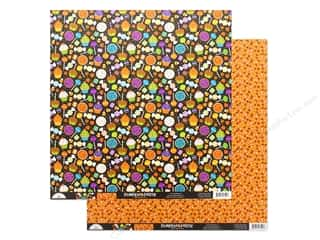 "pumpkins: Doodlebug Collection Pumpkin Party Paper 12""x 12"" Spooky Sweets (25 pieces)"
