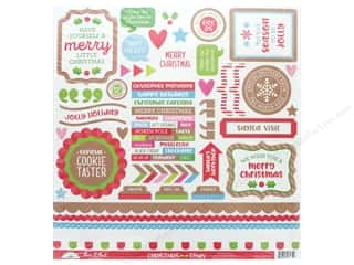 Clearance: Doodlebug Collection Christmas Town Sticker This & That (12 sets)