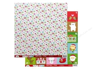 """Clearance: Doodlebug Collection Christmas Town Paper 12""""x 12"""" Festive Flurry (25 pieces)"""