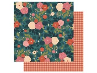 Echo Park Collection Coffee Paper 12 in. x 12 in. Wake Up And Smell The Flowers (25 pieces)