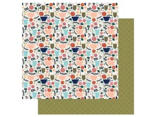 Echo Park Collection Coffee Paper 12 in. x 12 in. Coffee Cups (25 pieces)