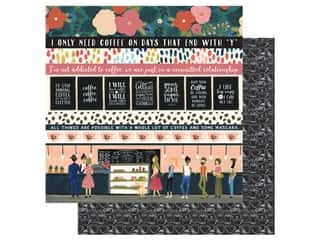 Echo Park Collection Coffee Paper 12 in. x 12 in. Border Strips (25 pieces)