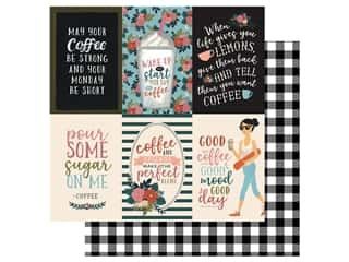 Echo Park Collection Coffee Paper 12 in. x 12 in. Journaling Cards 4 in. x 6 in. Vertical (25 pieces)