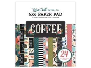Echo Park Collection Coffee Paper Pad 6 in. x 6 in.