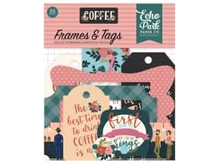 die cuts: Echo Park Collection Coffee Frames & Tags