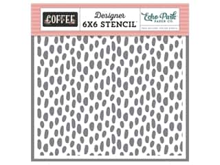 Echo Park Collection Coffee Stencil Dot