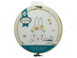 "Needle Creations Kit Embroidery Hoop 6"" Bunny"