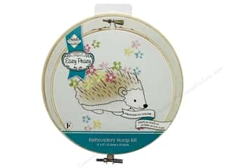 "Needle Creations Kit Embroidery Hoop 6"" Hedgehog"