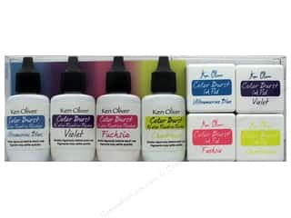 Contact Crafts Ken Oliver Color Burst Ink Pad/Reinker Set