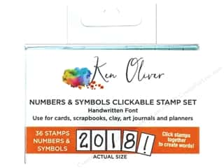 scrapbooking & paper crafts: Contact Crafts Ken Oliver Clickable Stamp Number & Symbol
