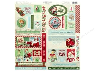scrapbooking & paper crafts: Authentique Collection Jingle Cardstock Elements (12 pieces)