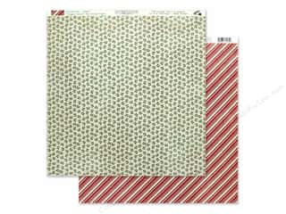 Clearance: Authentique Collection Jingle Paper 12 in. x 12 in. Seven (25 pieces)